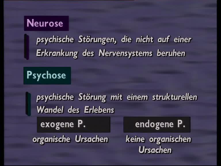 neurose psychose